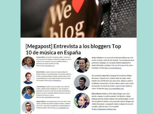 Entrevista blogger más influyentes Música Clásica